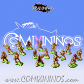Magnetic Amazon Team of 16 Players for Mini-BB