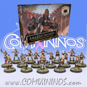 Amazons - Complete Smashers Amazon Team of 16 Players - Fireforge Games