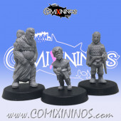 Set of 3 Scenography Miniatures: Aristocrat Midget with Guard and Big Nanny - Mystery Studio