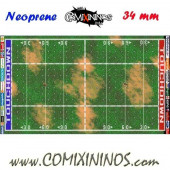 Basic Neoprene Mousepad Pitch of 34 mm Squares with NO Dugouts - Comixininos