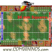 34 mm Basic Plastic Gaming Mat with Crossed Dugouts - Comixininos