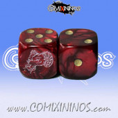 Set of 2d6 Beastmen Dice - Meiko