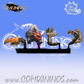 Set of 4 Beastmen Mutations - Meiko Miniatures