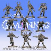 Evil - Set of 10 Resin Beastmen - Willy Miniatures
