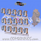 Dwarves / Norses - Metal Set of 15 Beer Mugs - Fanath Art