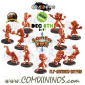 Evil - Set of 11 Beastmen Satyrs of Santa Chaos Team - Labmasu