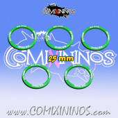 Set of 5 Big Hand Skill Rings for 25 mm Bases - Comixininos