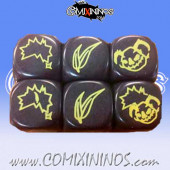 Set of 5 Dice Black Canary - Eucalyptus Bowl