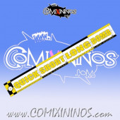 34 mm Range Ruler 1 mm Thick - Yellow and Black