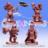 Orcs / Black Orcs - Set of 4 Black Orcs Pirates of The Orc Bay - Games Miniatures