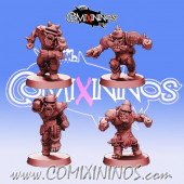 Orcs - Set of 4 Blitzers Pirates of The Orc Bay - Games Miniatures