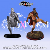 Humans / Bretonnian - Spartan Blitzer or Yeoman nº 3 - Meiko Miniatures