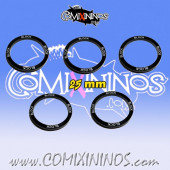 Set of 5 Block Skill Rings for 25 mm Bases - Comixininos