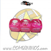 Set of 3 Pink Block Dice - SP Miniaturas