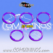 Block and Dodge - Set of 5 Double Skill Rings for 25 mm Bases - Comixininos