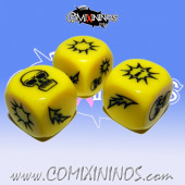 Set of 3 Akaro Block Dice Mod 2 - Yellow