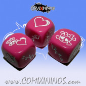 Set of 3 Pink Amazon Block Dice - Akaro