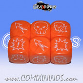 Set of 3 Meiko Block Dice - Orange
