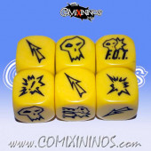 Set of 3 F.O.T. Block Dice - Yellow