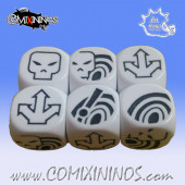 Set of 3 Bombas Block Dice - White