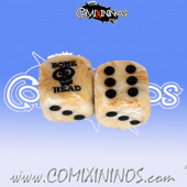 Bonehead nº 1 Skill Dice with Dots / Marble White Color - Meiko