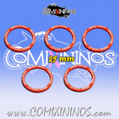 Set of 5 Break Tackle Skill Rings for 25 mm Bases - Comixininos