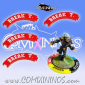 Set of 4 Red Break Tackle Puzzle Skills for 32 mm GW Bases - Comixininos