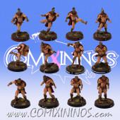 Bretonnian - Spartan Bretonnian Txarli Team of 12 Players - Meiko Miniatures