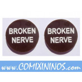 Broken Nerve Tokens (Set of 2) - English