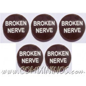 Broken Nerve Tokens (Set of 5) - English