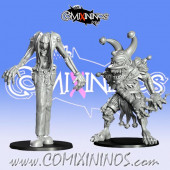 Goblins / Underworld - Set of 2 Trolls Gobfreak - Games Miniatures