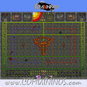 29 mm Ratmen Plastic Gaming Mat with BB7 and Parallel Dugouts - Comixininos