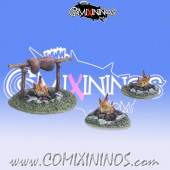 Halflings - Campfire Set - Tabletop Arts