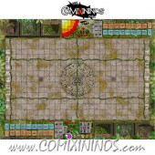 29 mm Lustria Jungle Plastic Gaming Mat with Crossed Dugouts - Comixininos