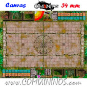 34 mm Lustria Synthetic Cloth Canvas Gaming Mat with Double Stitched Seam - Comixininos