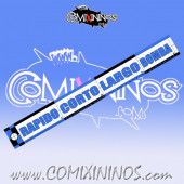 29 mm Range Ruler 1 mm Thick - Blue and Black - Spanish