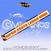 29 mm Range Ruler 1 mm Thick - Orange and Black - Spanish