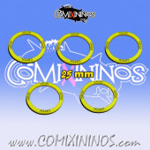 Set of 5 Catch Skill Rings for 25 mm Bases - Comixininos