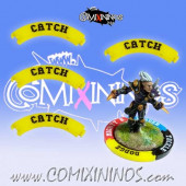 Set of 4 Yellow Catch Puzzle Skills for 32 mm Bases - Comixininos