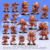 Lizardmen - 3D Printed Ceratops Team of 16 Players with Big Guy - RN Estudio