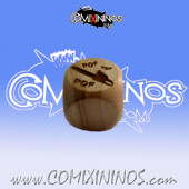 Chainsaw nº 3 Skill Dice without Dots - Wooden
