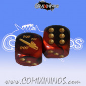 Chainsaw nº 1 Skill Dice with Dots / Dark Red Color - Meiko