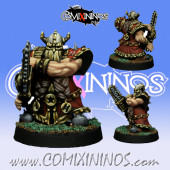 Dwarves - Dwarf Chainsaw Star Player - SP Miniaturas