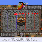 34 mm Evil Dwarf Plastic Gaming Mat with BB7 and Crossed Dugouts - Comixininos