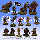 Evil Dwarves - Team of 14 Players with Minotaur - Uscarl Miniatures
