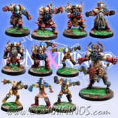 Evil Dwarves - Evil Dwarf Team of 11 Players with 1 Bull Centaur - Meiko Miniatures