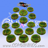 Total Set of 17 Grass Standard Bases: Numbered and Slotted  - Chaos Factory