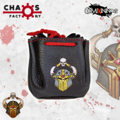 Evil Chaos Chosen Leather Dice Bag Delux Black Color - Chaos Factory