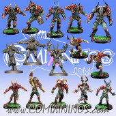 Evil Chosen - Resin Team of 15 Players with Minotaur and 3 Mutated Beastmen - Willy Miniatures