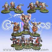 Evil Dwarves - Old But Gold Team of 16 Players - Labmasu